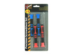 4 Pack precision screwdriver set (two phillips and two flatheads)