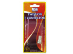 Twist-on F connector