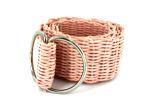 pink woven belt
