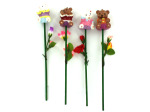 Bear candle on stem, assorted