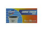 Large trash bags, 8 ct., 26 gallon