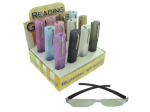 Reading glasses with case display