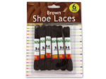 6 Pack brown shoe laces