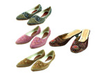 Beaded shoe assortments