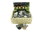 Zen Stones Heart Key Chains Counter Top Display