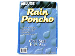 Deluxe rain poncho (assorted colors)