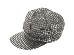 Silver Sequin News Boy Hat