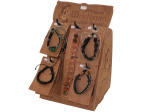 Genuine Leather Adjustable Bracelets Countertop Display