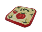 Tomato Ceramic Square Oil Plate