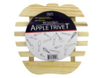 Wooden apple trivet
