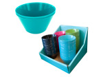 Plastic Bowls Countertop Display