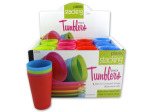 Plastic Stacking Tumblers Countertop Display