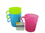 Plastic tumblers with handle