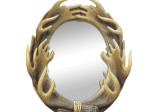 Moose Antlers Oval Wall Mirror