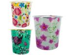 Round Floral Design Wastebasket