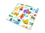 Animal print Happy Birthday flat wrapping paper