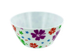 Melamine bowl with flower print