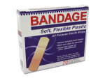Flexible plastic bandages, assorted sizes