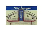 Ski hangers, pack of 2