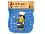 Pot holders, pack of 2, happy cook
