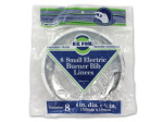 Electric burner bib liners