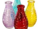 Square Texture Glass Bottle Vase