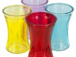 Wide Mouth Colored Glass Vase