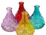 Diamond Texture Glass Bottle Vase