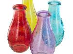 Dot Texture Glass Bottle Vase
