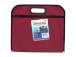 Storage organizer bag with zipper