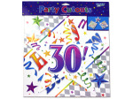 30th birthday cut-outs, pack of 3