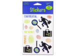 glow in the dark stickers on 4 sheets