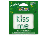 Jeweled kiss me tattoo