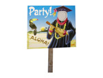grad luau two sided yard sign