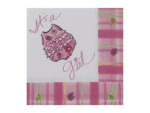 """It's a Girl"" napkins, pack of 16"