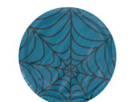 Turquoise spiderweb plates, pack of 8