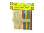 Large set of craft sticks (pack of 72)