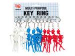 Jointed Skeleton Keychain Hanging Display