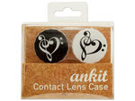 Heart Treble Print Contact Lens Case