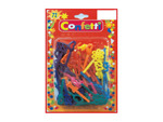 72 piece plastic assorted colors/design hair clips