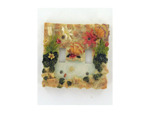 Floral polyresin light switch cover