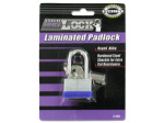 Laminated Steel Shackle Padlock with Keys