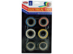 Electrical tape in assorted colors, pack of 6