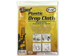 9x12 ft plastic drop cloth & large disposable gloves