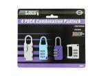 Combination padlock set