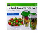 Salad Container Set with Dressing Containers & Forks