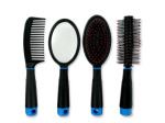 Hair Brush & Comb Set with Mirror