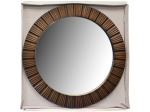 Bronze Round Ribbed Mirror
