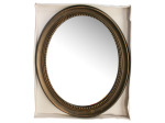 Antique Bronze Framed Oval Mirror