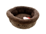 Small Polka Dot High Wall Pet Bed